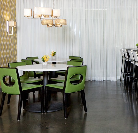 Showroom cafe interior design by lisa mcdennon