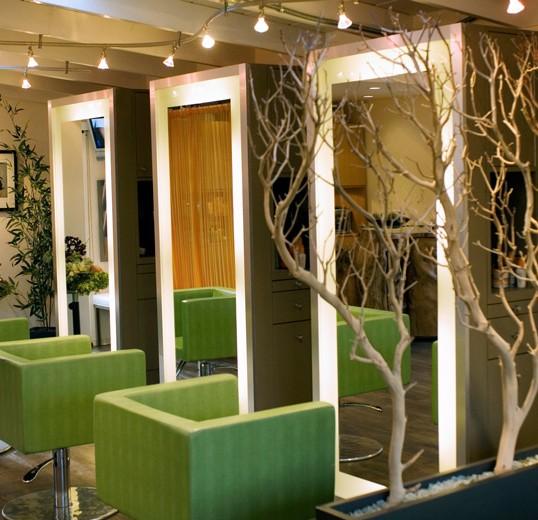 Stylist booth interior design