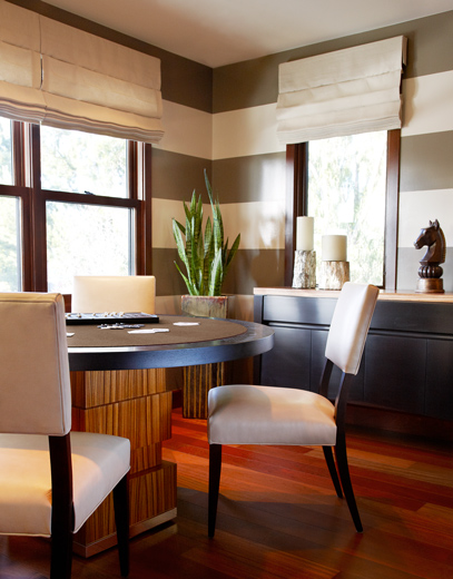 Mens lounge interior designed specifically for the mad men in mind: Newport Beach