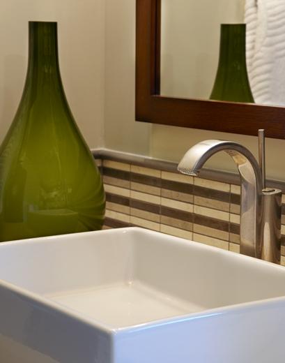 European designed custom bathroom: Newport Beach