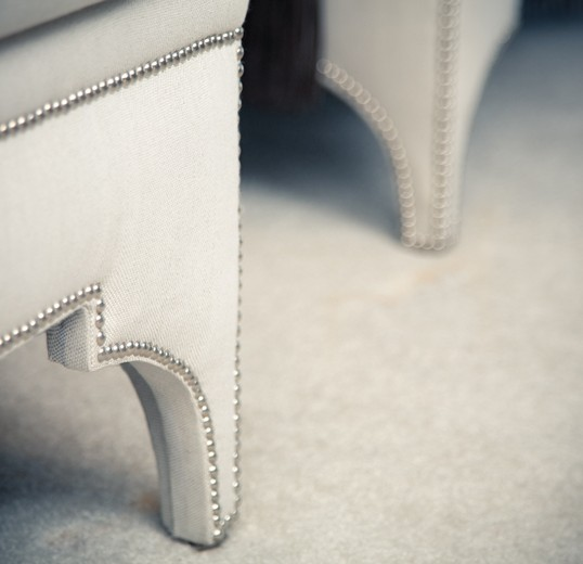 Decadent Interior design achieved by custom upholstery