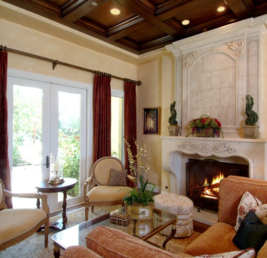 Old World design mixed with open architecture makes this an interior design worth experiencing