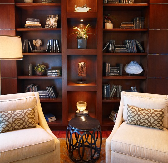 Symetry and elegance wrapped into a beautiful example of custom interior design