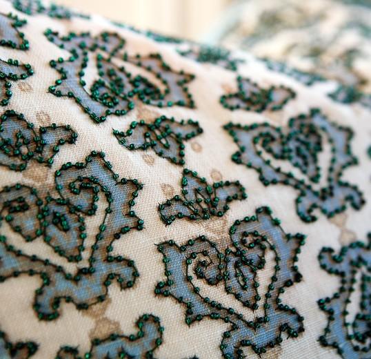 Custom fabrics for master bedroom interior