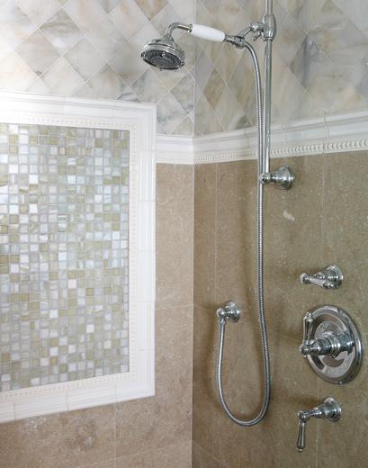 Master bathroom interior design: Laguna Beach